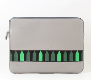Grey x Dark Green Laptop Sleeve