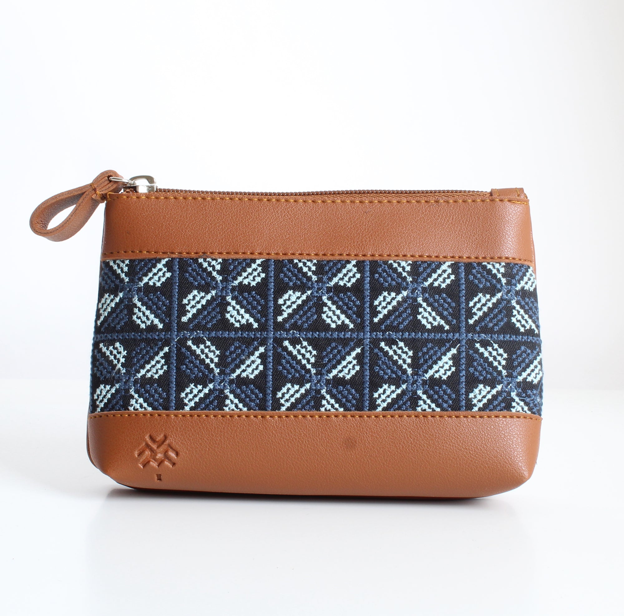 Havane x Blue Flowered Makeup Bag