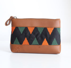 Havane x Orange Dark Green Makeup Bag