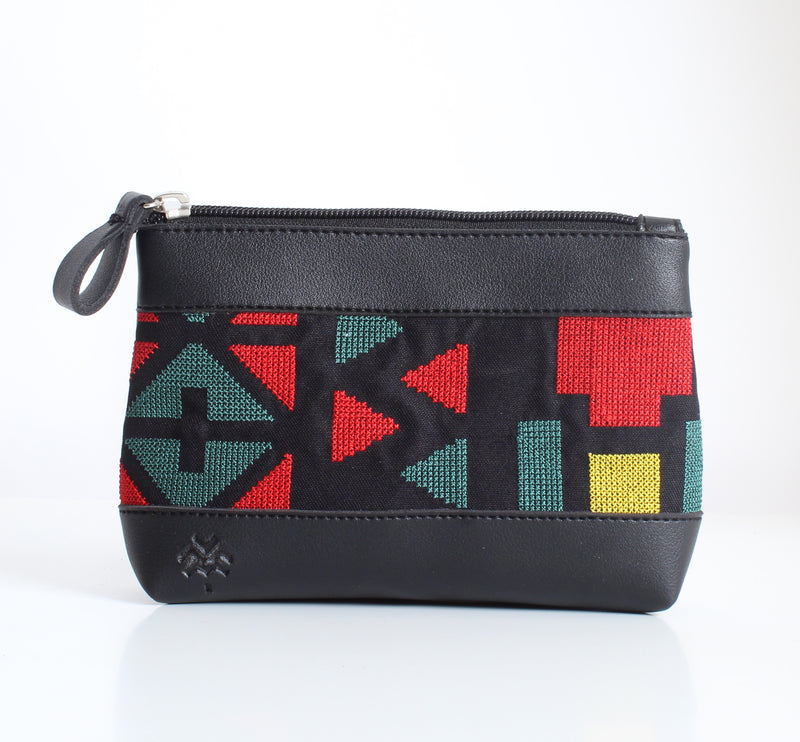 Black x Red Makeup Bag