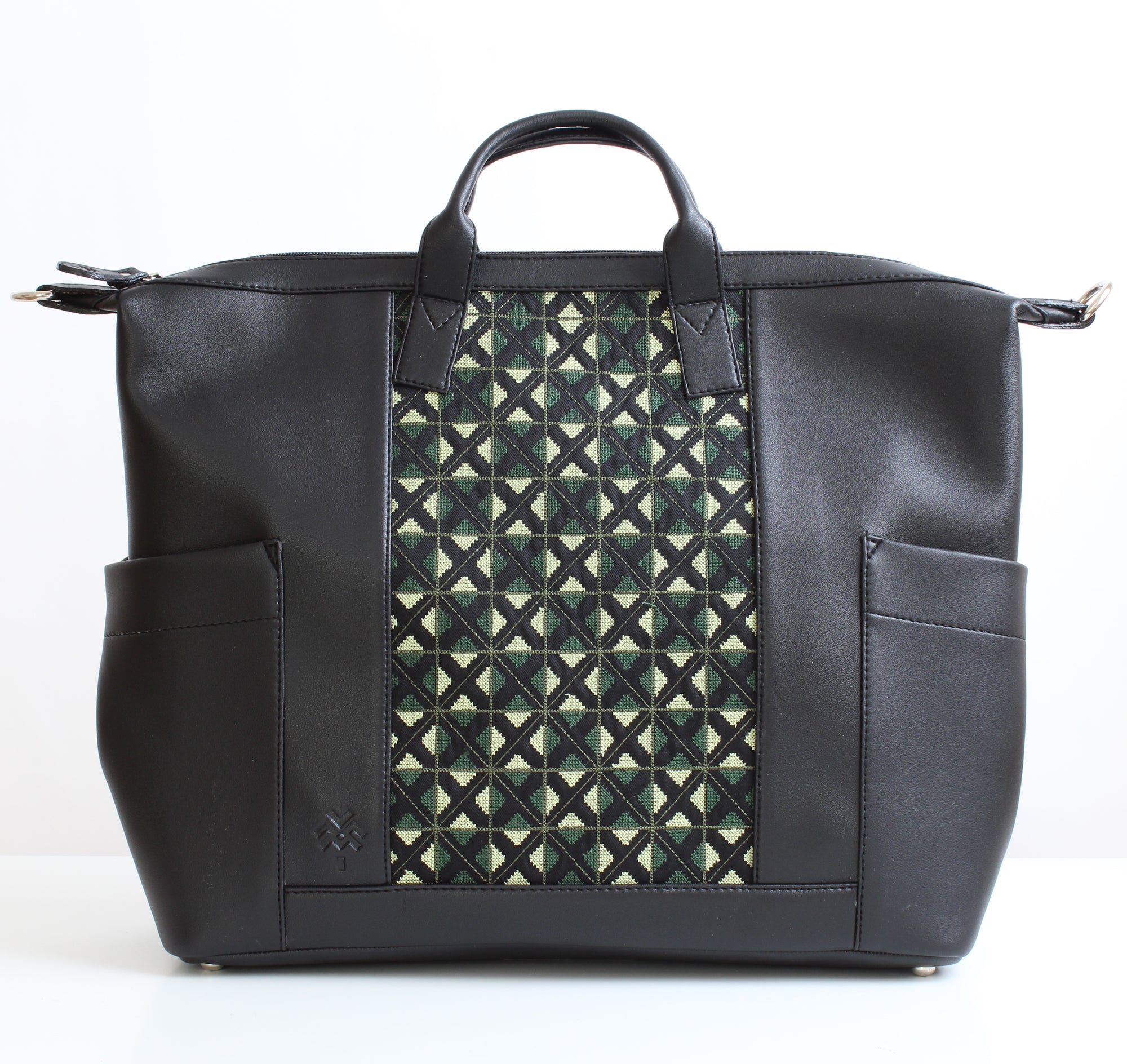 Olive Green x Black Weekender Backpack