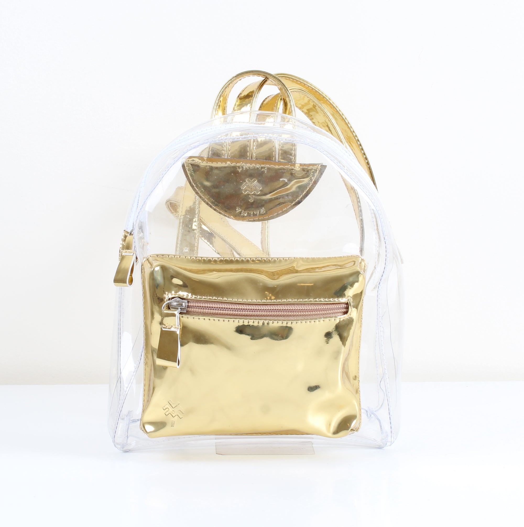 Gold Transparent Mini Backpack