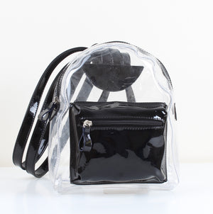 Black Transparent Mini Backpack