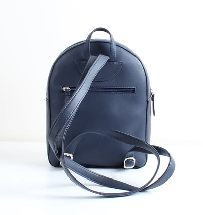 Navy Blue Nordic Bird Tassel Backpack