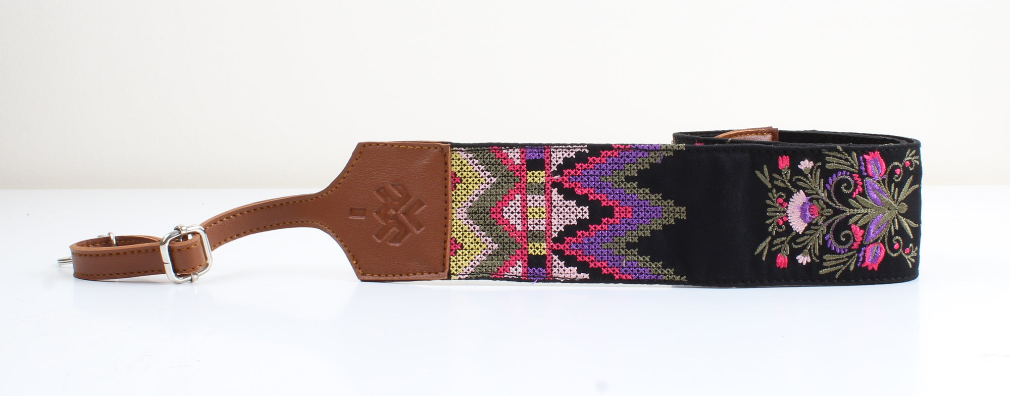 Havane x Drake patterned camera straps
