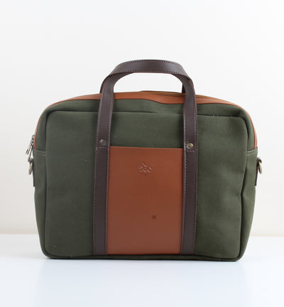 Dark Green X Havane Canvas Workbag