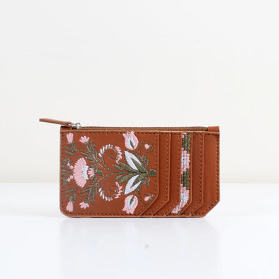 Havane Flowered Card Holder