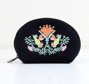 Flowered x Black Makeup bag