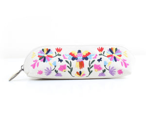 Folk Art x White Pencil Case