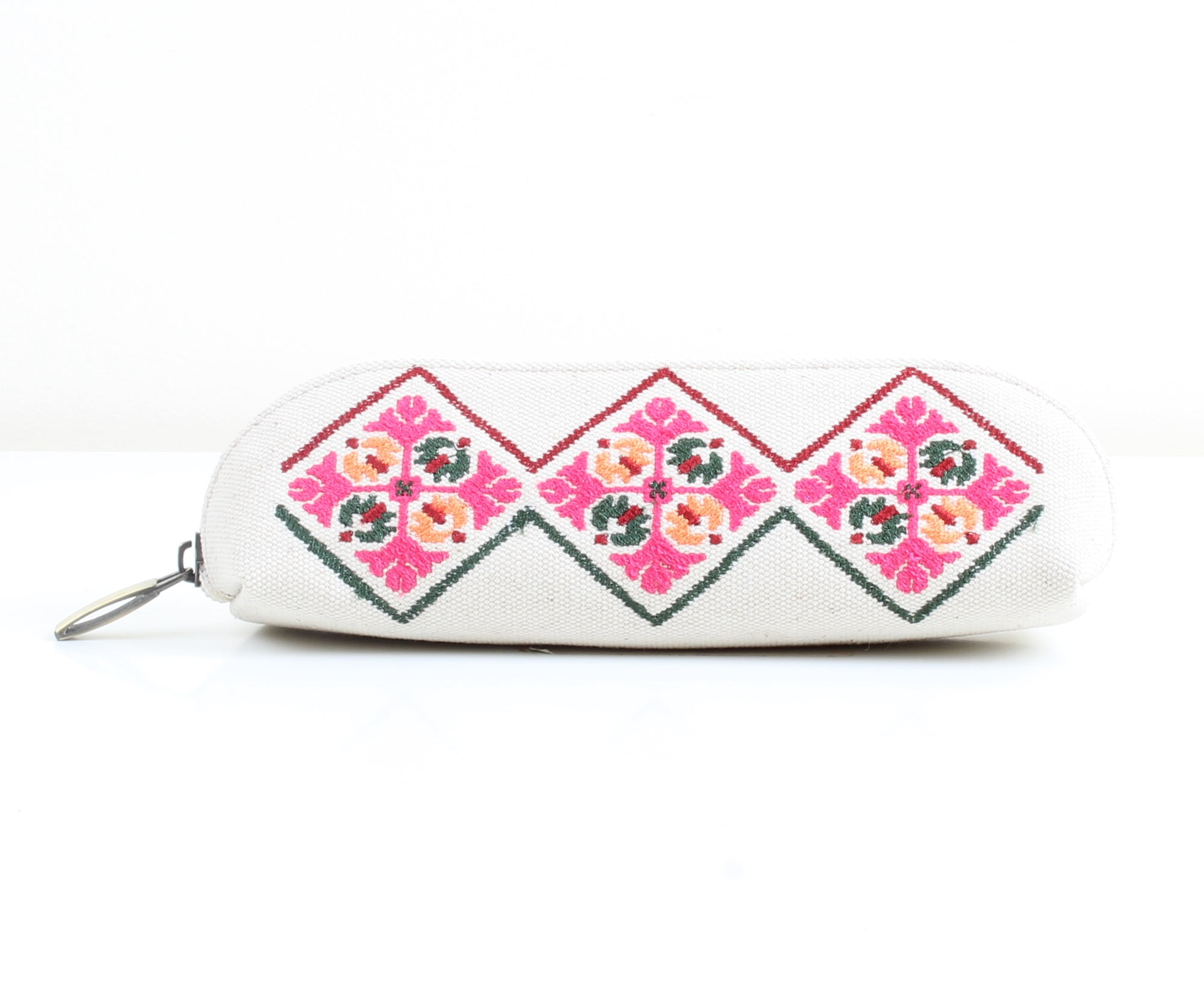 Patterned x White Pencil Case