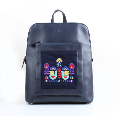 Curvy Laptop bag Nordic Bird x Navy Blue