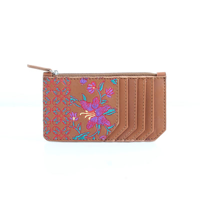 Hanvane x Pink Flowered Card Holder