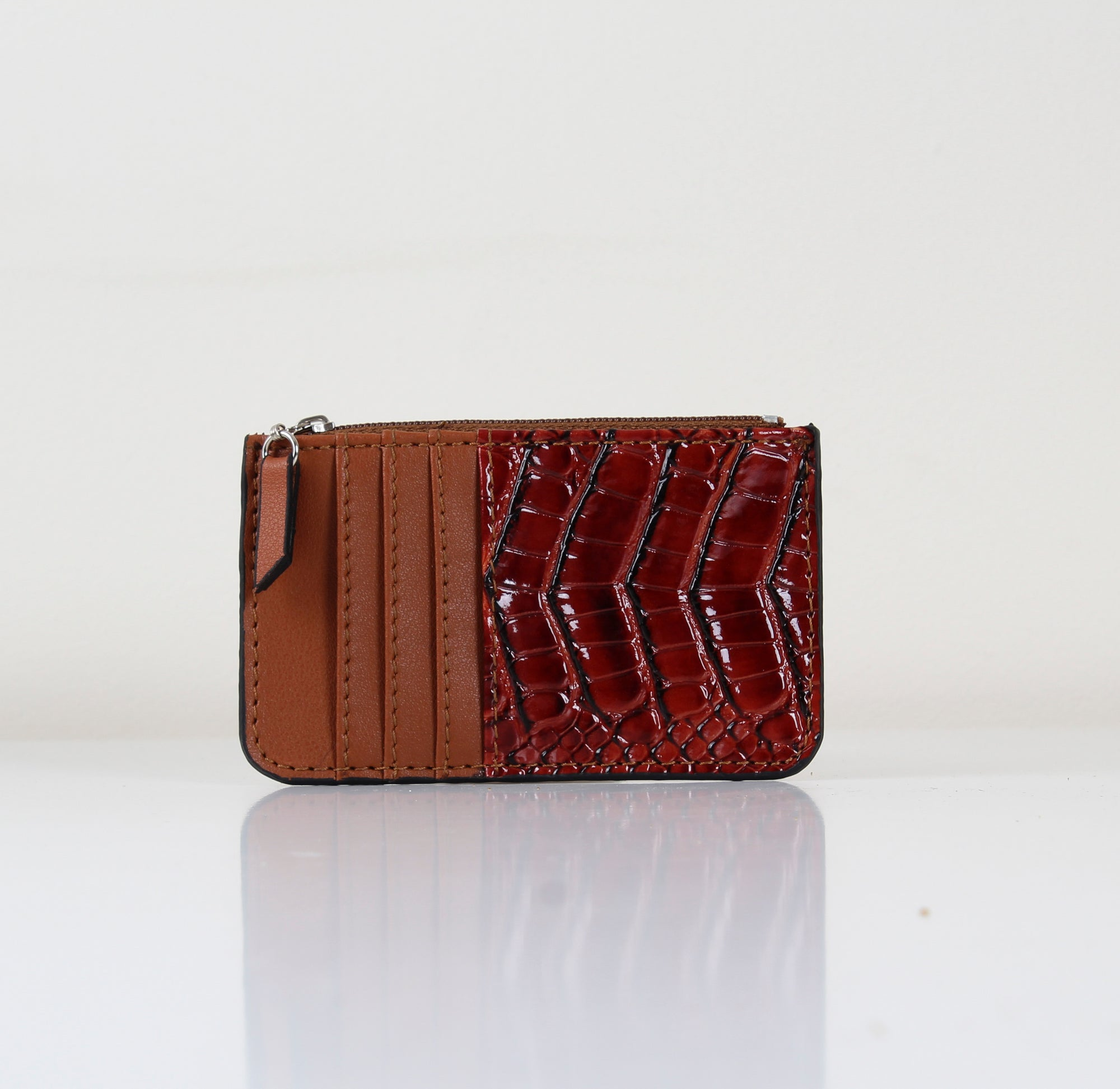 Havane SnakeSkin Card Holder