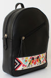 Black Folk Bird Tassel Backpack