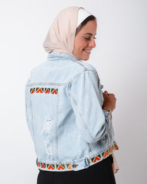 Orange Green Nubi Denim Jacket