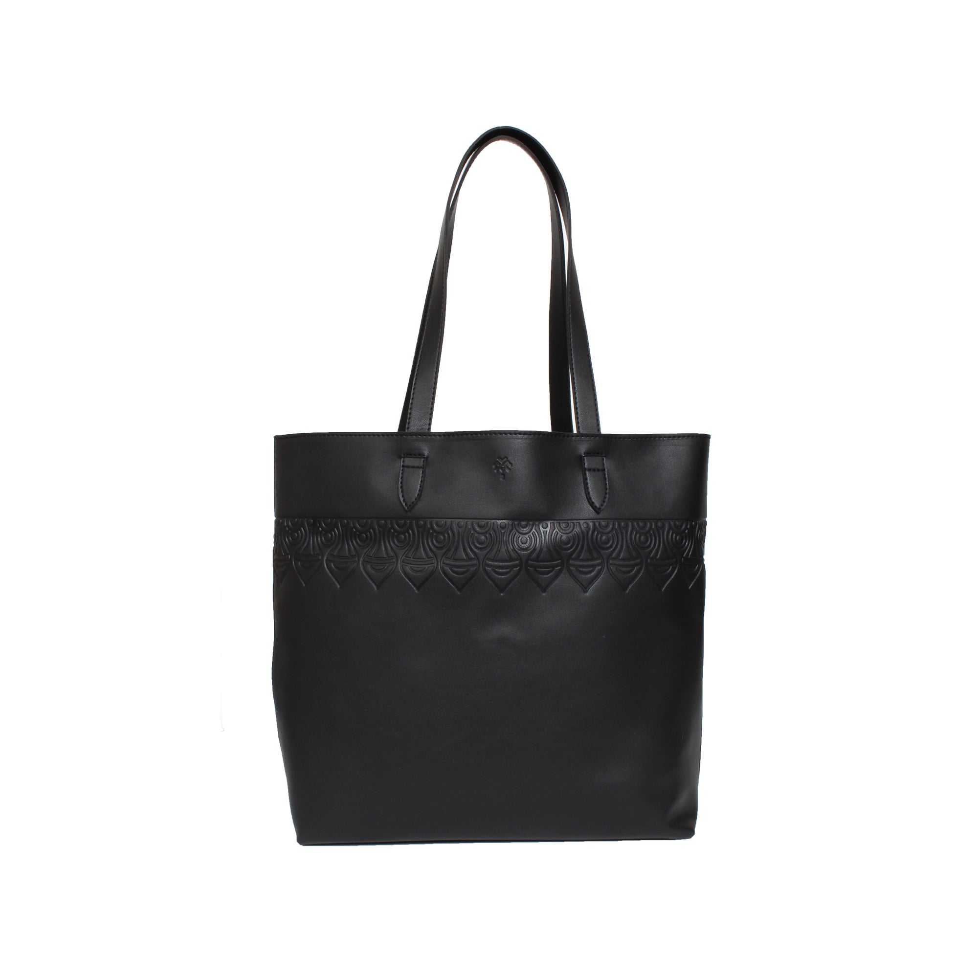 Leather Tote Delhi Black