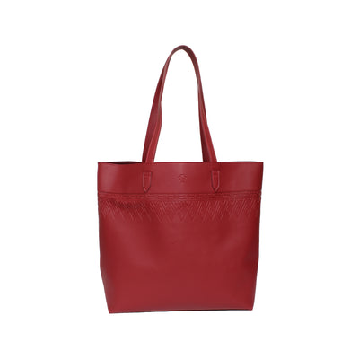 Leather Tote Tangle Burgundy