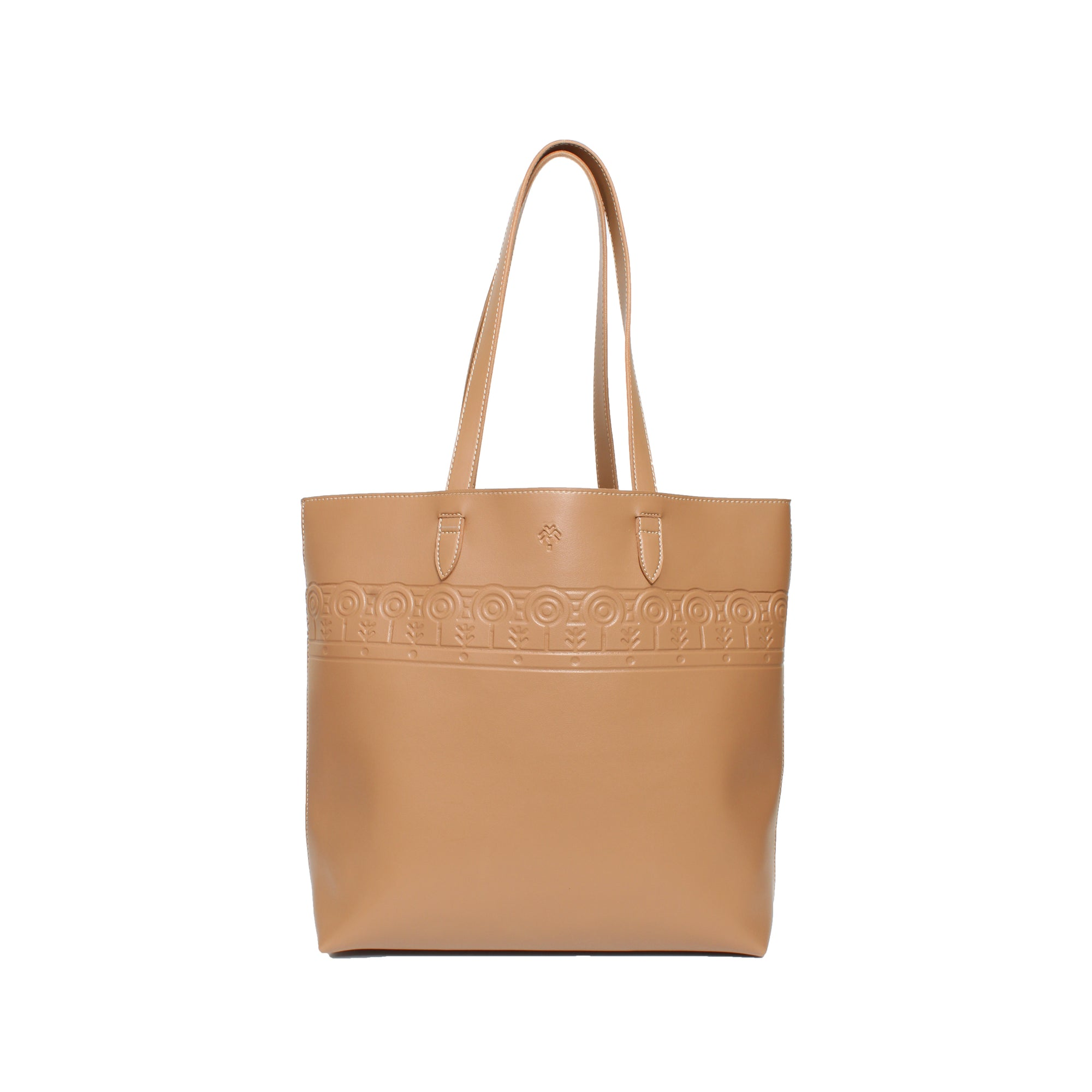 Leather Tote Clan Cafe