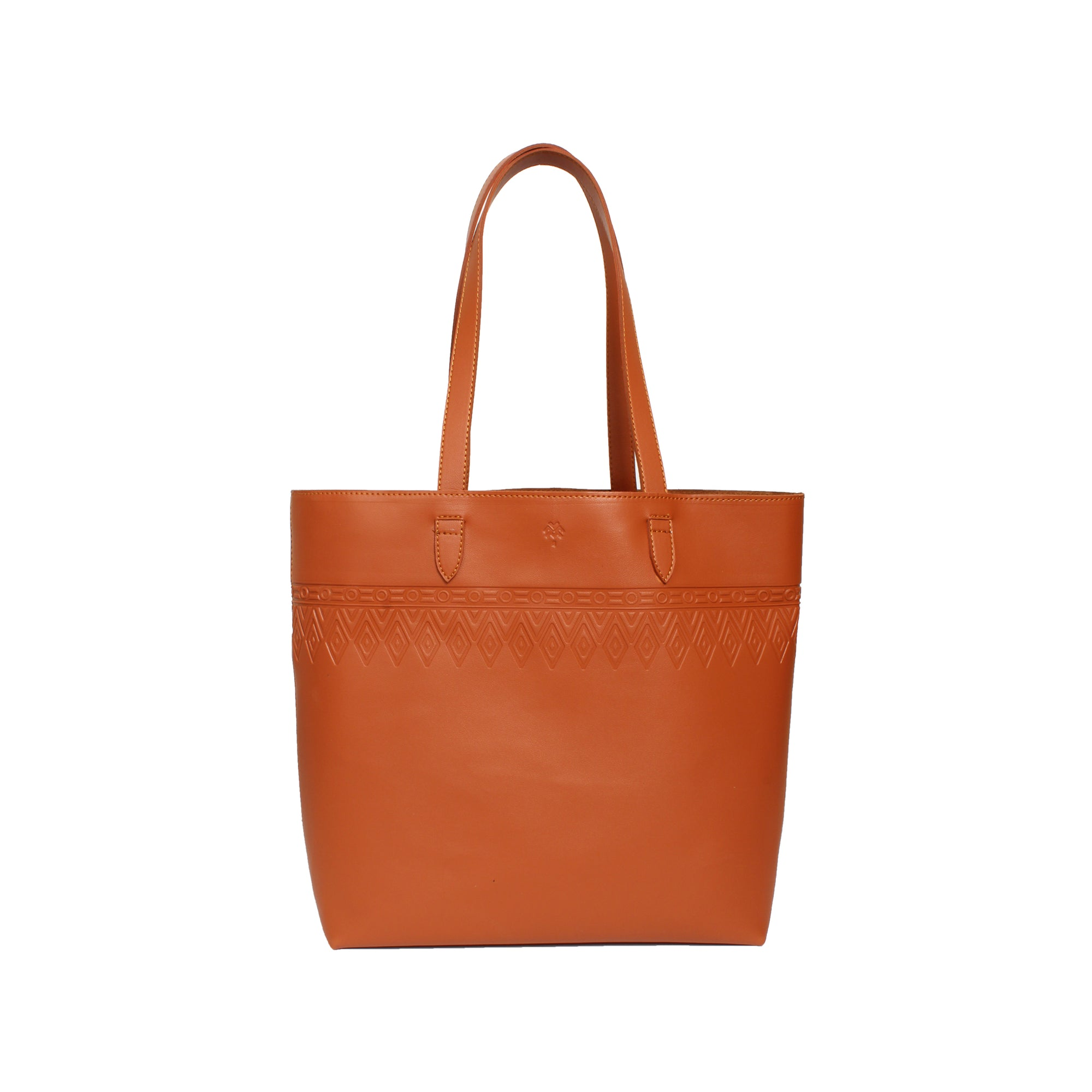 Leather Tote Tangle Havane