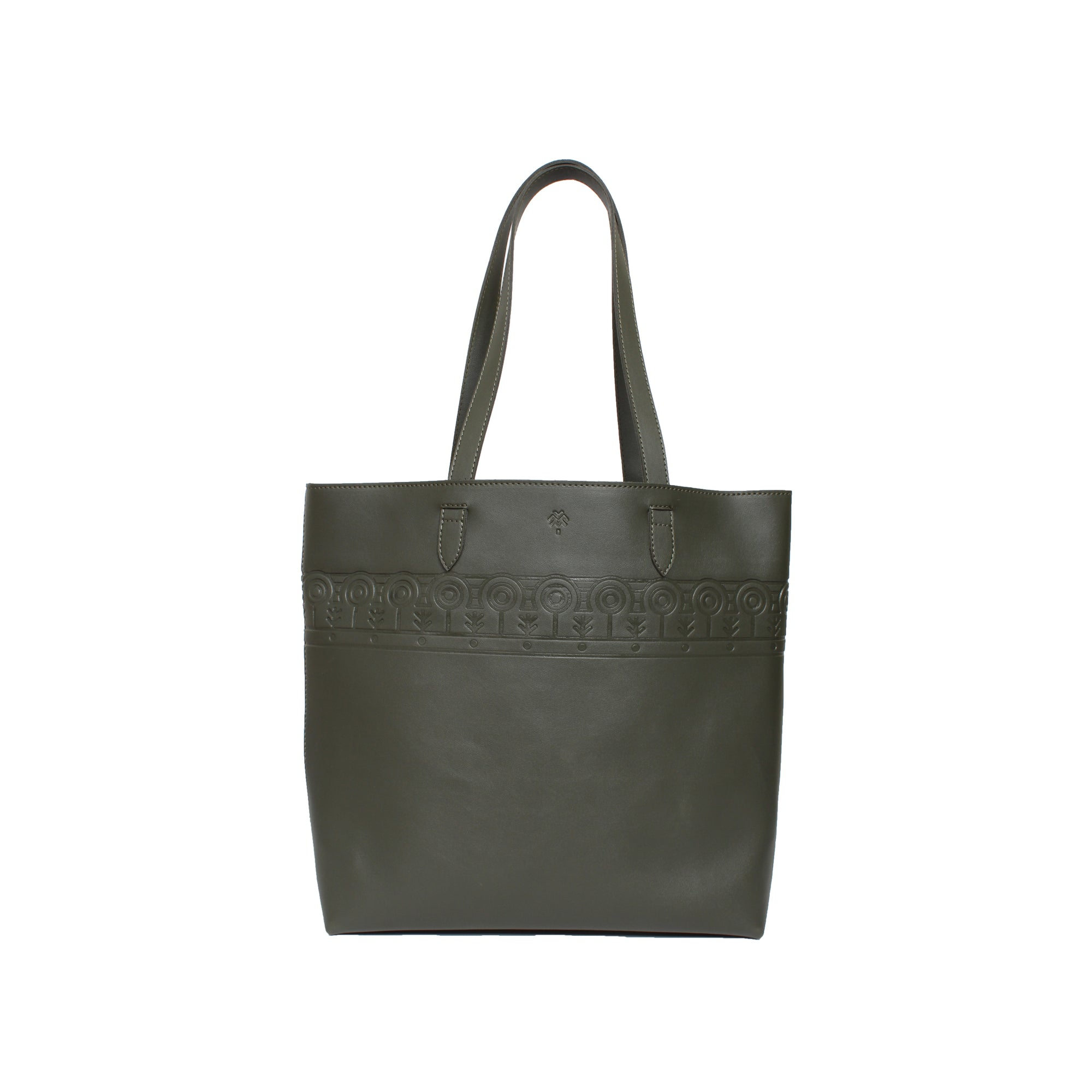 Leather Tote Clan Olive