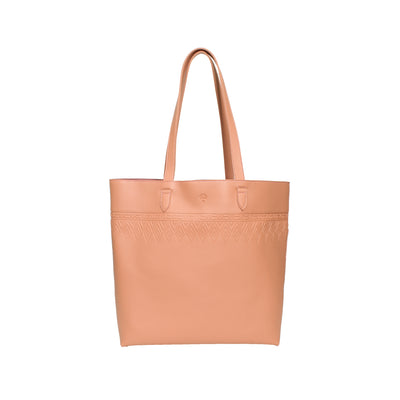Leather Tote Tangle Pink