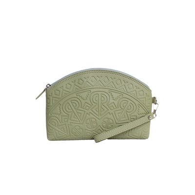 Makeup Bag Crown Pistachio