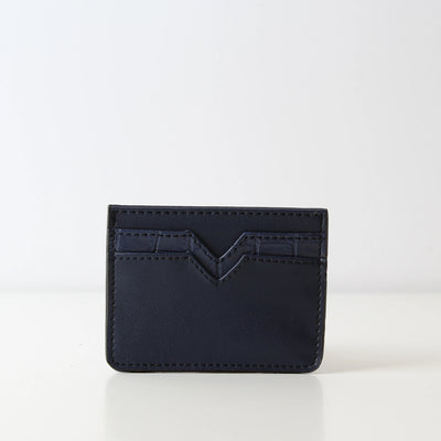 Card Holder Plain Navy