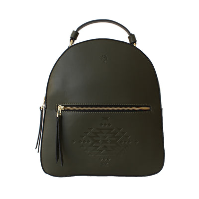 Leather Backpack Olive