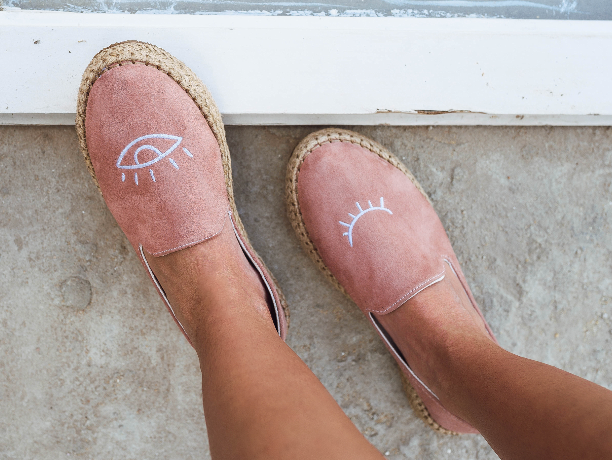 Espadrilles Abstract Eye Rose