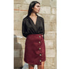 Suede Skirt Burgundy