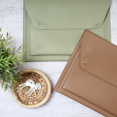 Laptop Sleeve Farfallo Pistachio