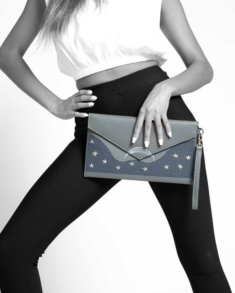 Clutch Charcoal Midnight