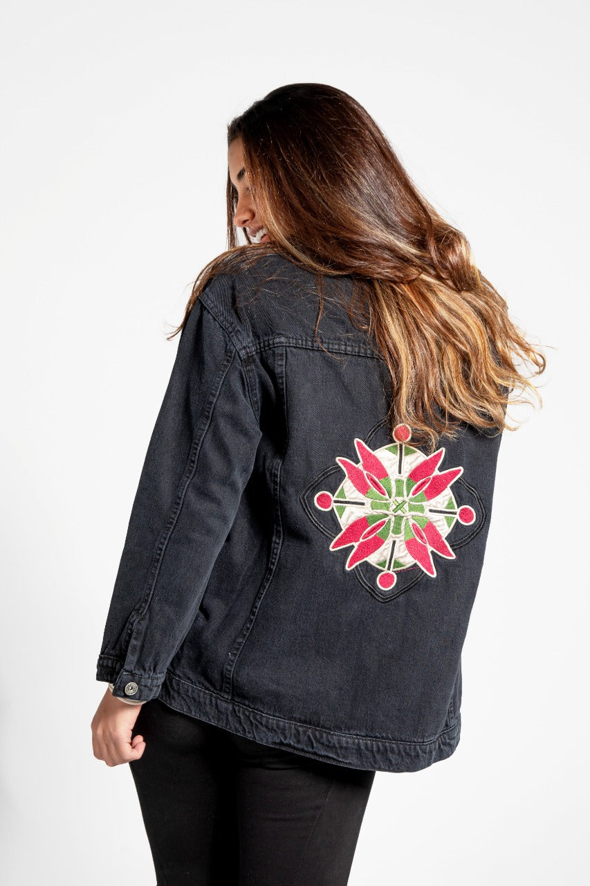 Denim Jacket Compass Black