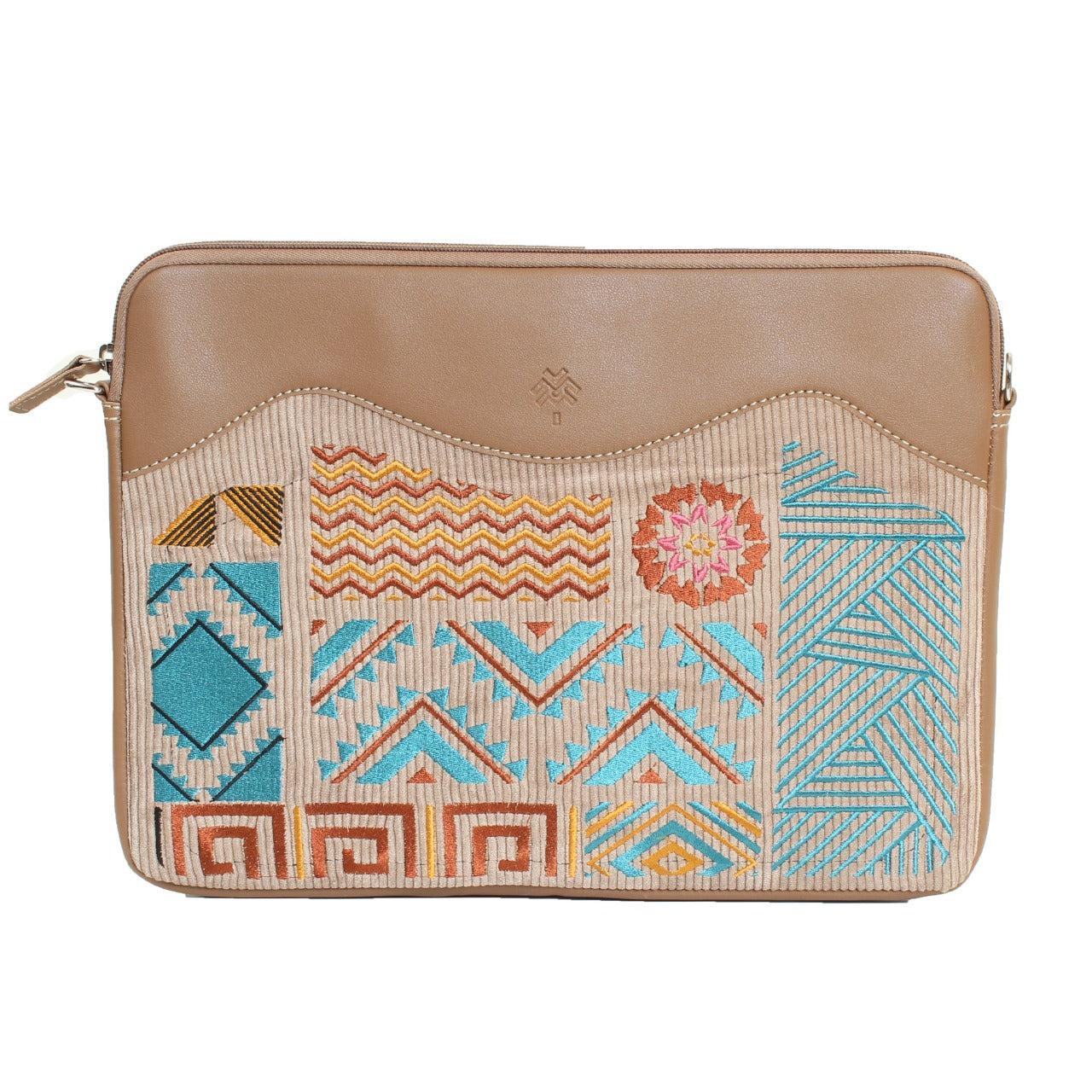 Geometric Laptop Sleeve Cafe