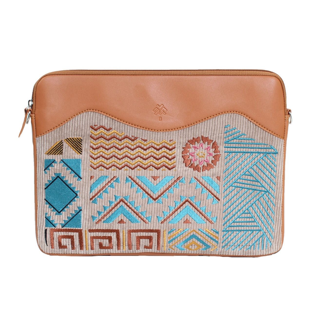 Geometric Laptop Sleeve Havane