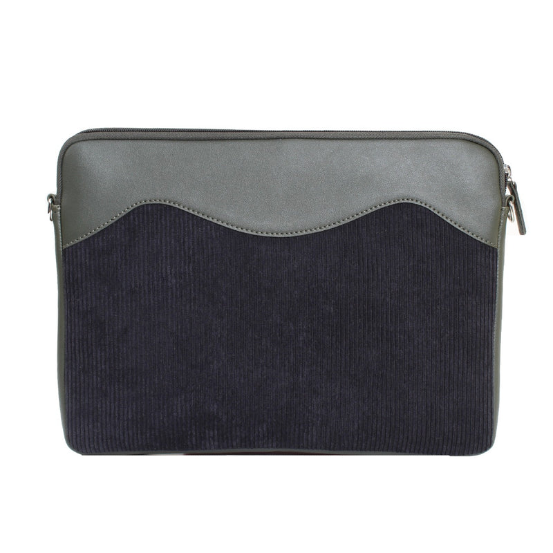 Geometric Laptop Sleeve Olive