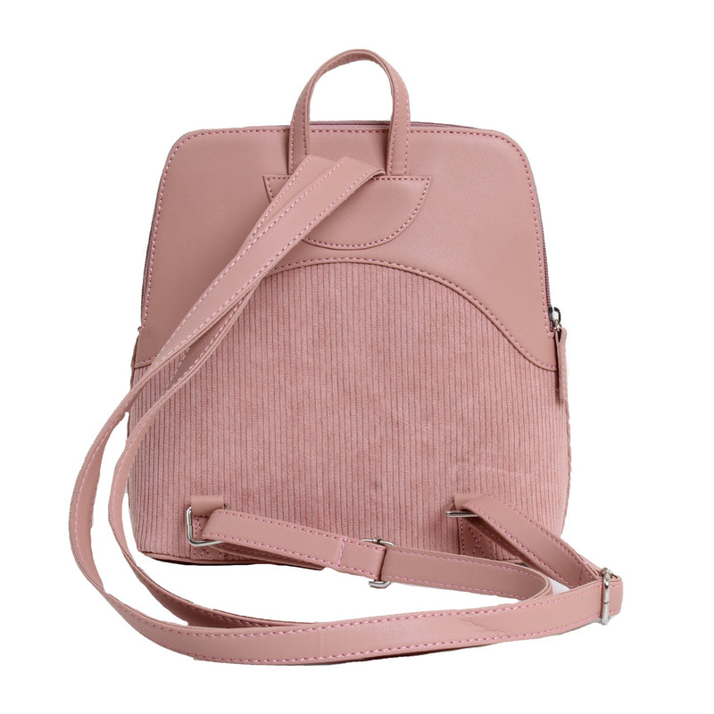 Corduroy Backpack Pink