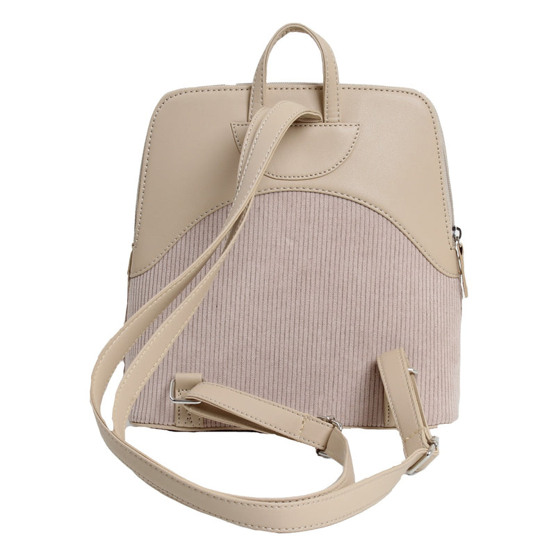 Corduroy Backpack Beige