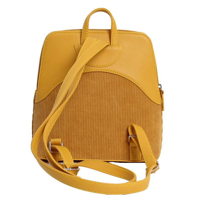 Corduroy Backpack Mustard
