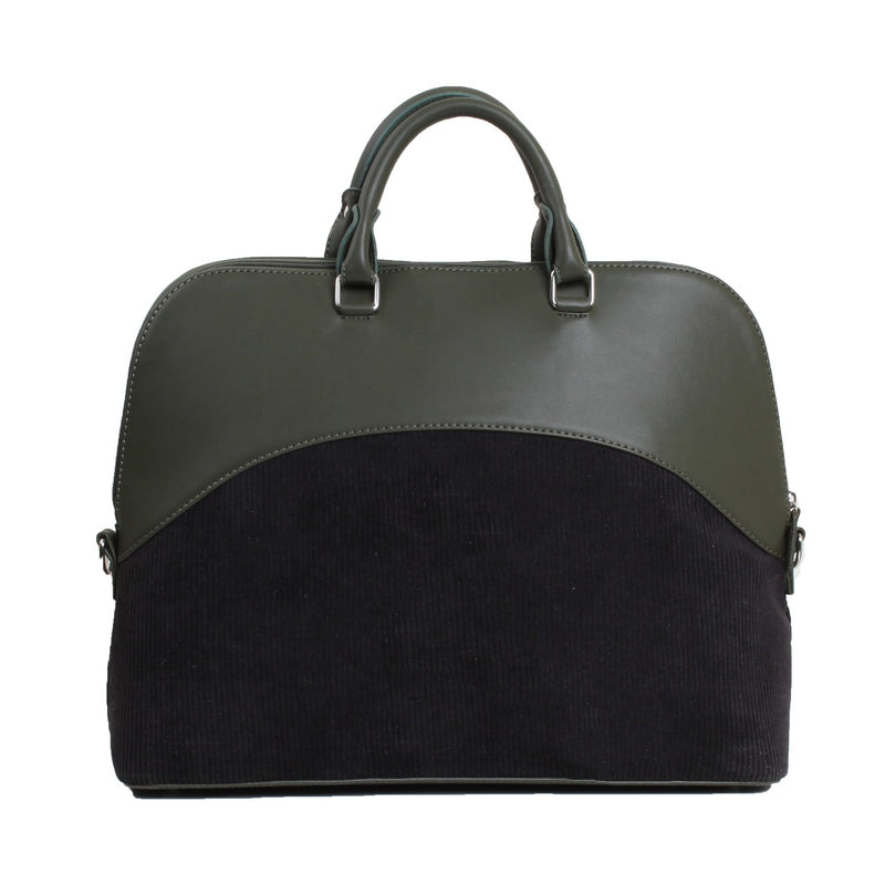Geometric Laptop Bag Olive