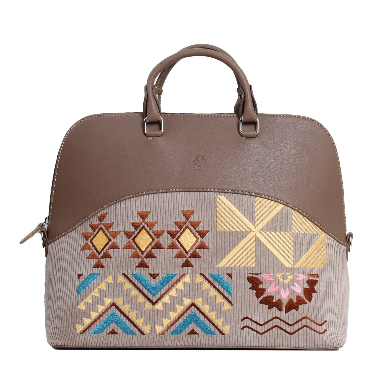 Geometric Laptop Bag Cafe