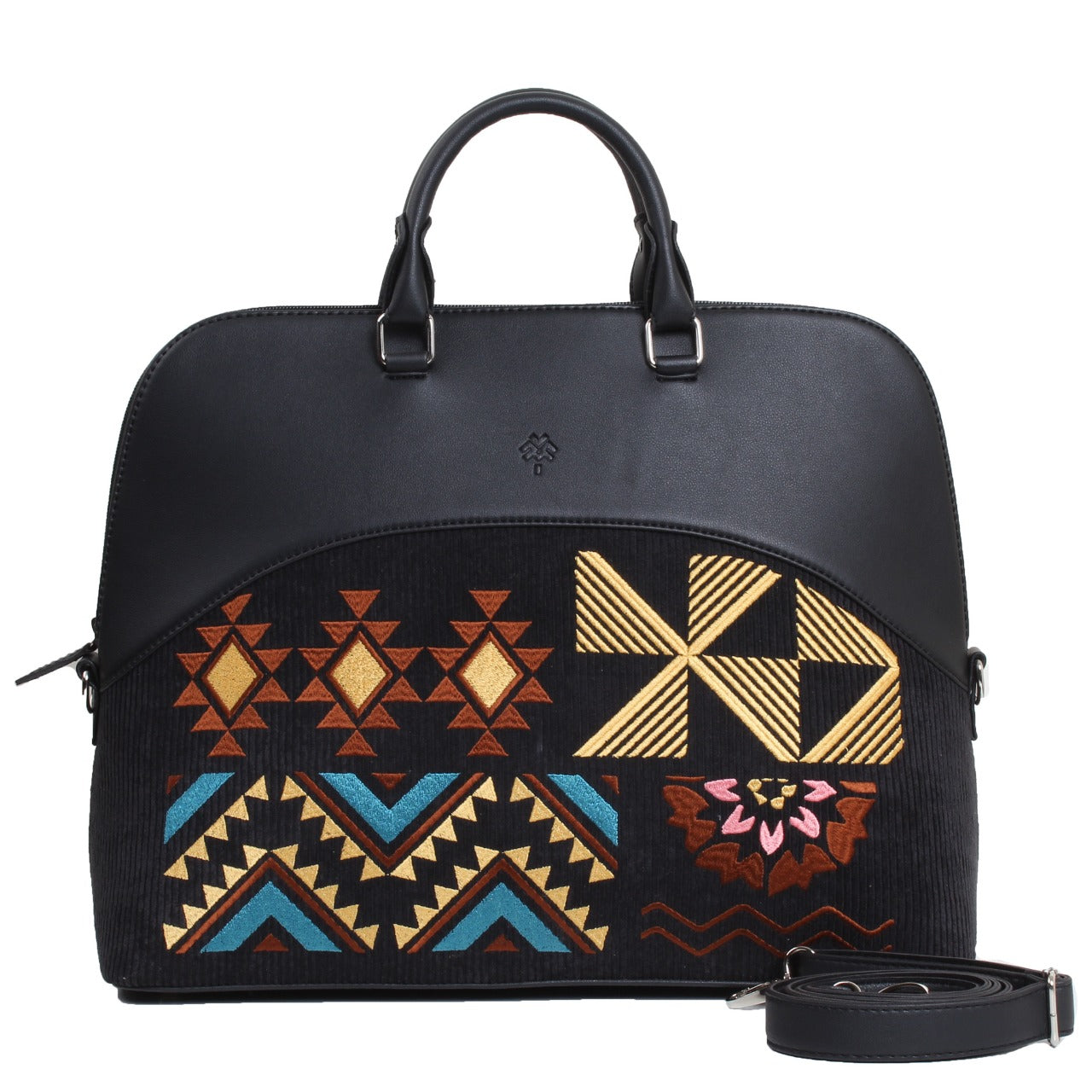 Geometric Laptop Bag Black