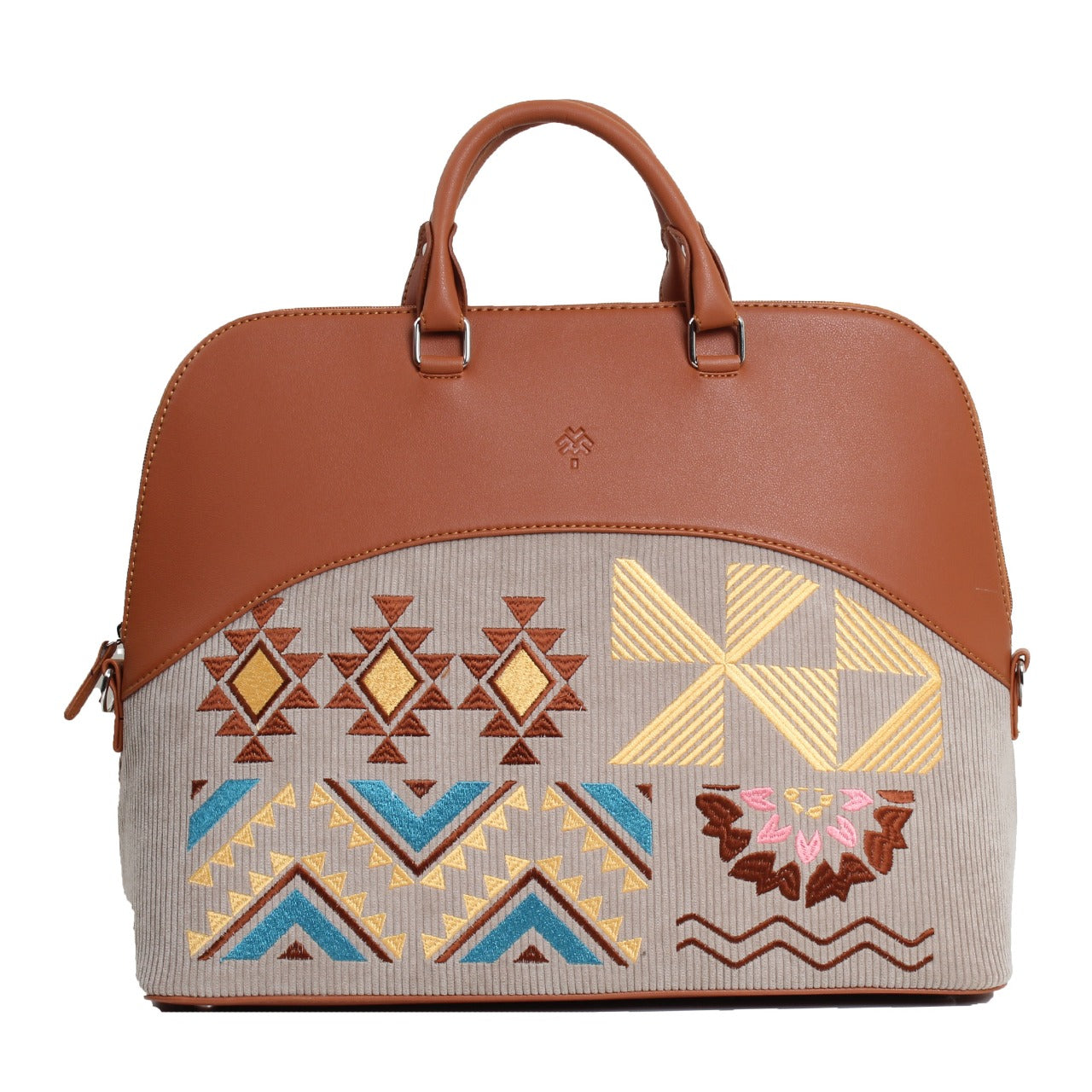 Geometric Laptop Bag Havane
