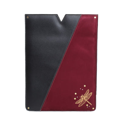 Textured Laptop Sleeve Black x Burgundy