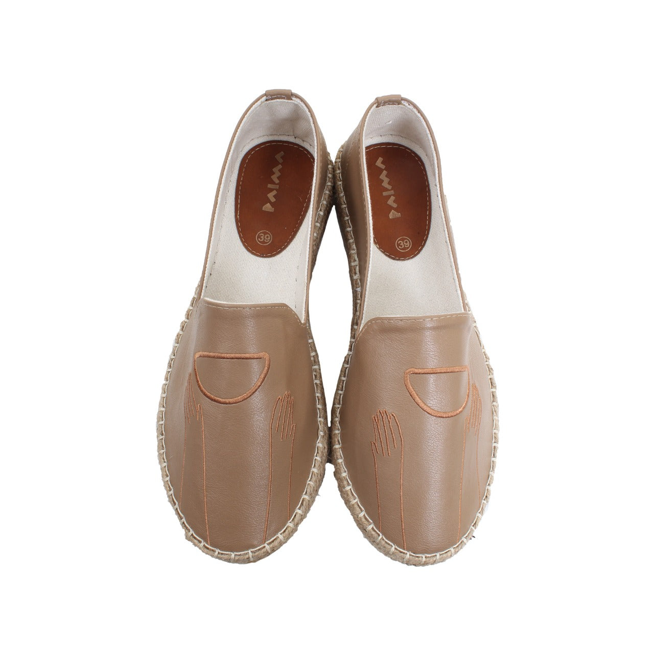Leather Espadrilles Dreamy Cafe