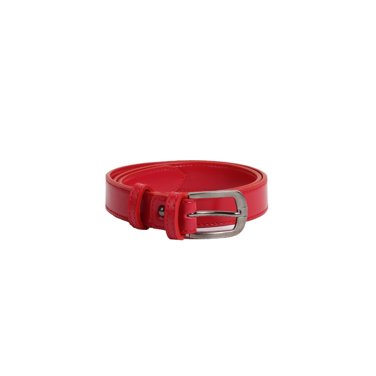 Classic Faux Leather Belt Red