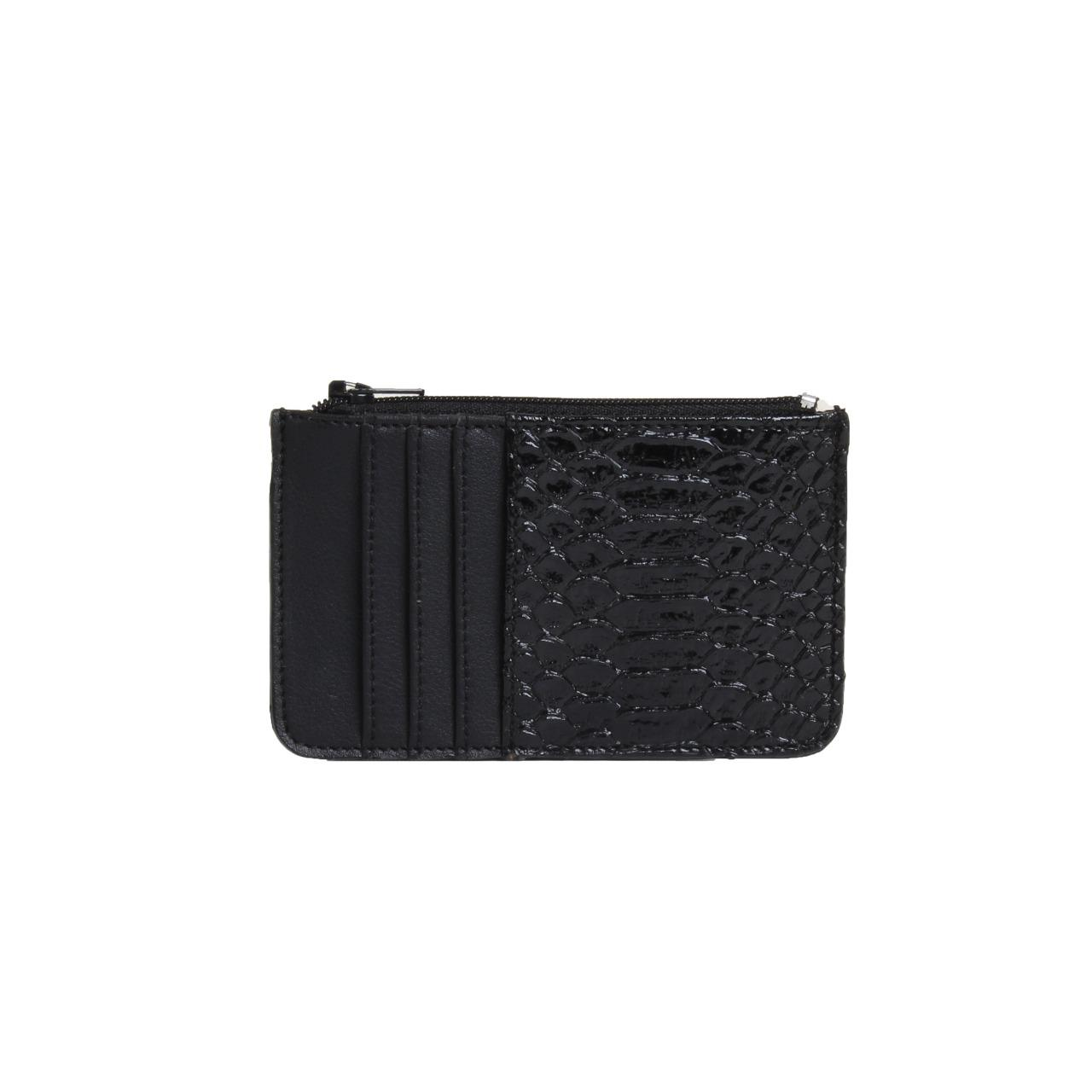 SnakeSkin Card Holder Black