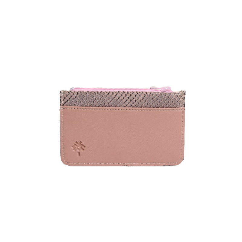 SnakeSkin Card Holder Pink