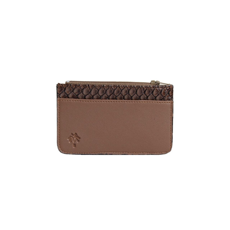 SnakeSkin Card Holder Cafe
