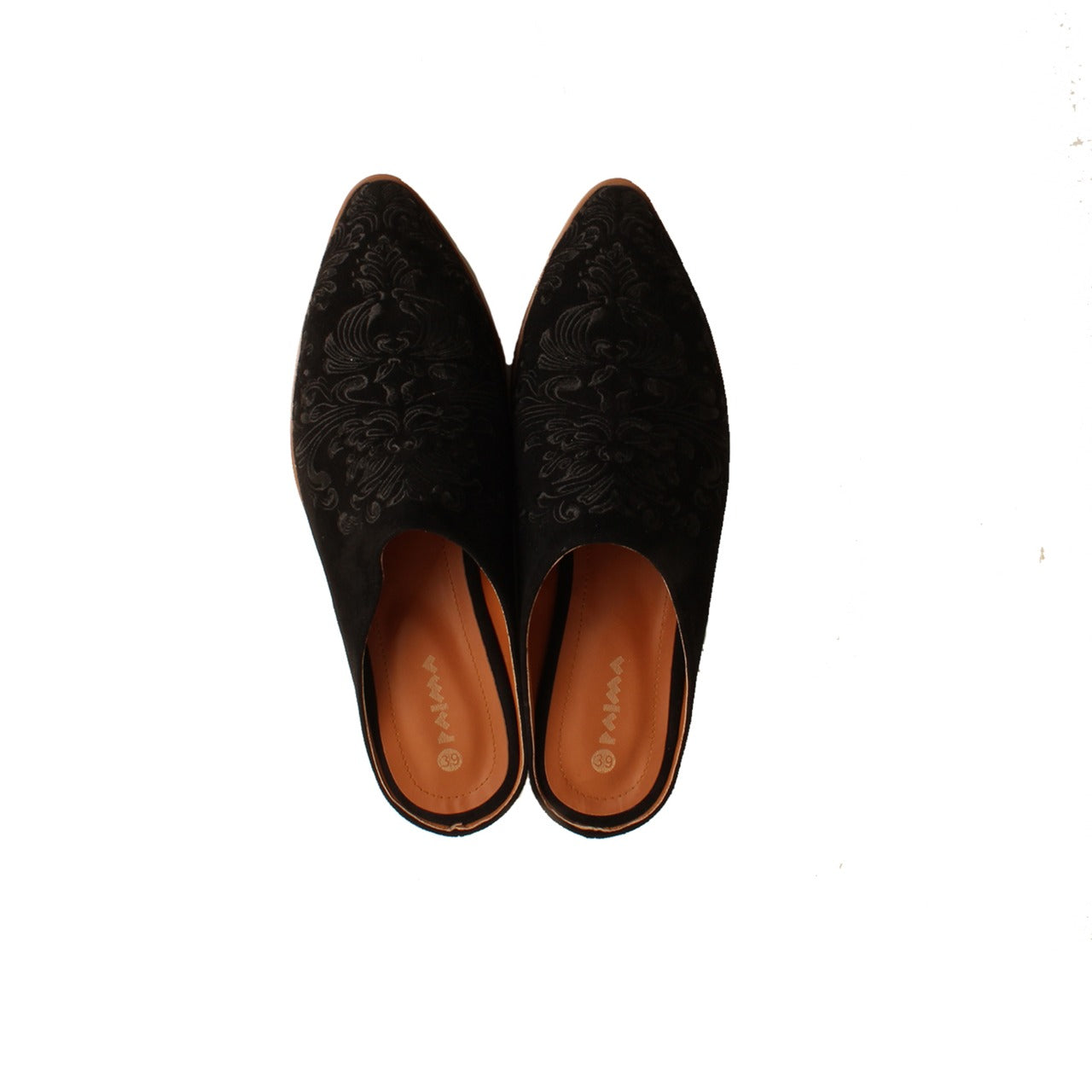Damask Mules Black